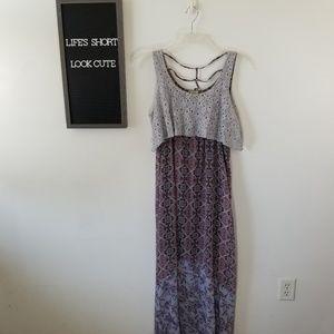 Live & Let Live Boho Maxi Dress NWT